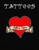 Tattoos: Tattoo Skizzen Buch / 7 Leere Felder Pro Seite