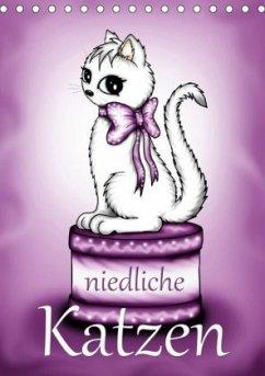 Niedliche Katzen (Tischkalender 2020 DIN A5 hoch)