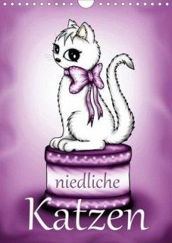 Niedliche Katzen (Wandkalender 2020 DIN A4 hoch)