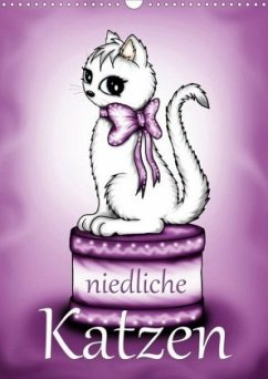 Niedliche Katzen (Wandkalender 2020 DIN A3 hoch)