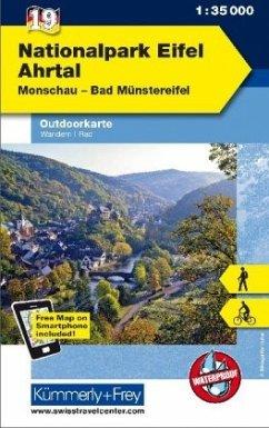 Kümmerly+Frey Outdoorkarte Nationalpark Eifel, Ahrtal