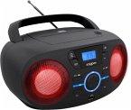 BigBen Kids, Tragbares CD/Radio CD61 mit Lichteffekte, CD-Player, schwarz