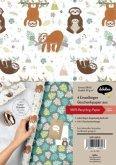 Geschenkpapier-Set für Kinder: Faultier