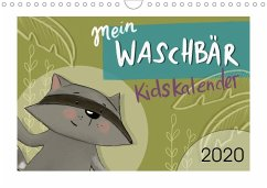 Mein Waschbär Kidskalender (Wandkalender 2020 DIN A4 quer)
