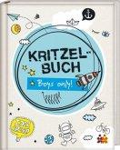 Kritzelbuch. Boys only