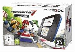 Nintendo 2DS schwarz/blau + Mario Kart 7 (vorinstalliert)