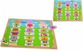 Eichhorn 109265706 - Peppa Pig, Mix und Match Puzzle mit 21 Steckteilen, 22-tlg., 40x30cm