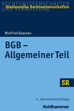 BGB - Allgemeiner Teil (eBook, PDF) - Boecken, Winfried