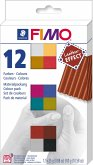FIMO leather-effect Materialpackung 12 Stück