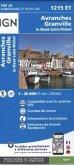 IGN Karte, Serie Bleue Top 25 Avranches.Granville.le Mont-St-Michel