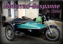 Motorrad-Gespanne in Kuba (Wandkalender 2020 DIN A3 quer)