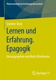 Lernen und Erfahrung. Epagogik (eBook, PDF)