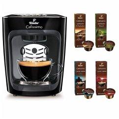 Tchibo Cafissimo Mini Kaffee Kapselmaschine Midnight Black + 40 Kapseln