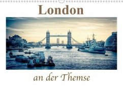 London an der Themse (Wandkalender 2020 DIN A3 quer)