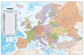 Politische Europakarte als Poster, deutsch, ca. 90x61cm
