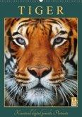 Tiger - Kunstvoll digital gemalte Portraits (Wandkalender 2020 DIN A2 hoch)