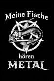 Fisch Hört Metal: Notizbuch / Notizheft Für Zierfische Zierfisch Aquarium Heavy Metal Fan A5 (6x9in) Dotted Punktraster