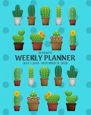 Weekly Planner: Cactus; 18 Months; July, 2019 - December 31, 2020