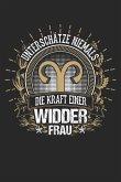 Widder Frauen Stark Gold: Notizbuch / Notizheft Für Sternzeichen Horoskop-Fan Tierkreis-Zeichen Astrologie A5 (6x9in) Dotted Punktraster