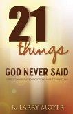 21 Things God Never Said (eBook, ePUB)
