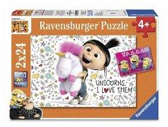 Agnes und die Minions. Puzzle 2 x 24 Teile (Mängelexemplar)