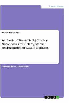 Synthesis of Bimetallic Pt3Co Alloy Nanocrystals for Heterogeneous Hydrogenation of CO2 to Methanol