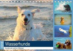 Wasserhunde 2018. Hunde am und im Wasser (Tischkalender 2020 DIN A5 quer)