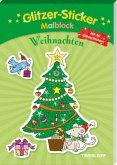 Glitzer-Sticker-Malblock. Weihnachten