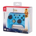 PowerA Wired Controller, Chrome Blue Zelda-Design, für Nintendo Switch