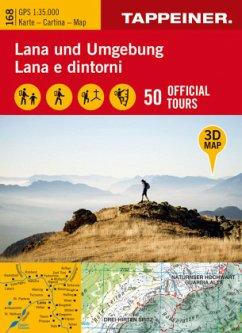 3D-Wanderkarte Lana und Umgebung