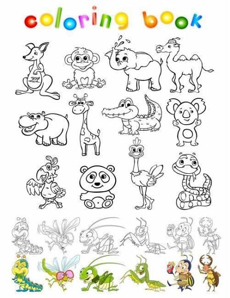 Coloring Book: Coloring Book for Kids Child Coloring Activity Book Animal  Coloring Book with 70+ Unique Wild and Nature Animal Sketch