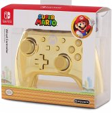 PowerA Wired Controller, Super Mario, Chrome Gold Mario-Design, für Nintendo Switch