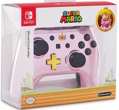 PowerA Wired Controller, Super Mario, Chrome Pink Peach, für Nintendo Switch
