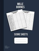 Mille Bornes Scoresheets: Scoring Pad For Mille Bornes Players, Score Keeper Notebook, 100 Sheets, 8.5''x11''