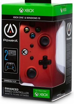 PowerA Wired Controller, Crimson Fade, für Xbox One und PC, rot