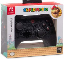 PowerA Wired Controller, Super Mario, Bowser Shadow Design, für Nintendo Switch
