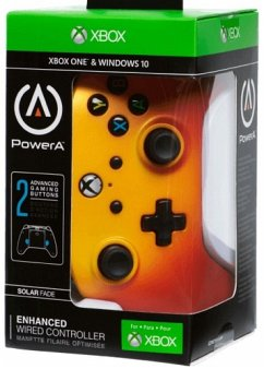 PowerA Wired Controller, Solar Fade, für Xbox One und PC, gelb/orange