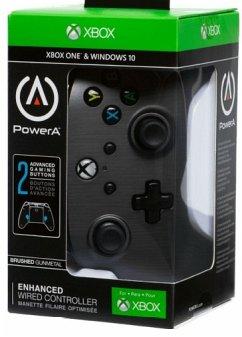 PowerA Wired Controller, Brushed GunMetal, für Xbox One und PC, grau
