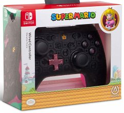 PowerA Wired Controller, Super Mario, Princess Peach Shadow, für Nintendo Switch