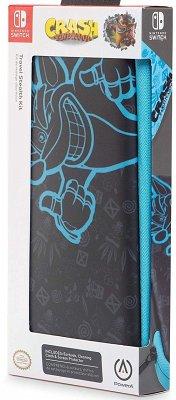 PowerA Travel Stealth Kit, Crash Bandicoot, Zubehör-Set (Etui, Ohrhörer, Schutzfolie und Tuch)
