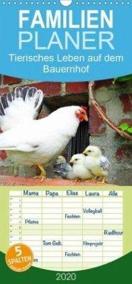 Tierisches Leben auf dem Bauernhof 2020 - Familienplaner hoch (Wandkalender 2020 , 21 cm x 45 cm, hoch)