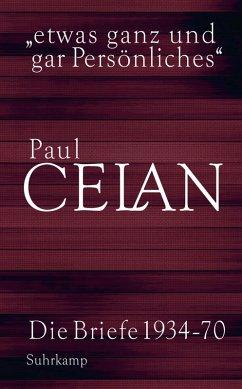 »etwas ganz und gar Persönliches« (eBook, ePUB) - Celan, Paul
