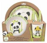 Panda, 5tlg. Frühsstücksset aus Bambus