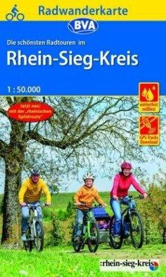 BVA Radwanderkarte Die schönsten Radtouren im Rhein-Sieg-Kreis, 1:50.000, reiß- und wetterfest, GPS-Tracks Download