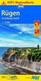 ADFC-Regionalkarte Rügen, Fischland-Darß mit Tagestouren-Vorschlägen