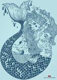 Maritimes Notizbuch - Illustration: Meerjungfrau
