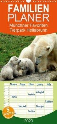 Tierpark Hellabrunn - Münchner Favoriten - Familienplaner hoch (Wandkalender 2020 , 21 cm x 45 cm, hoch)