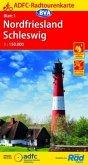 Radtourenkarte Nordfriesland /Schleswig 1:150.000