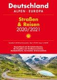 Shell Straßen & Reisen 2020/21 Deutschland 1:300.000 mit Ortsverzeichnis, Alpen, Europa