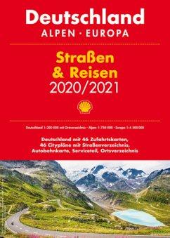 Shell Straßen & Reisen 2020/2021 Deutschland 1:300.000, Alpen, Europa